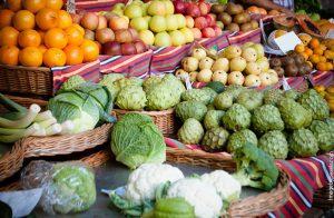 alimentación frutas y verduras